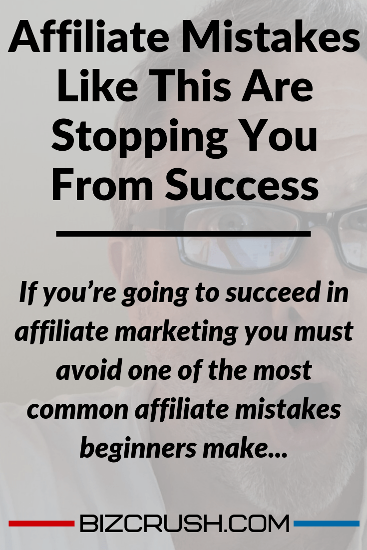 The headline of this post 'Affiliate mistakes are stopping you from success' over a background image of the author Kenneth Holland