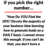 The headline of this post 'The 80-20 Rule can change everything…if you pick the right number…' over a background image of white space.